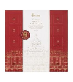Harrods' Festive Chocolate Advent Calendar is the perfect gift for someone special. It boasts a delectable selection of dark, milk and white chocolates hidden behind classic box press openings. Perfect for little one's or adults with a sweet tooth.
