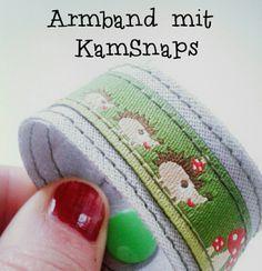 Genähtes Armband für die Kleinen mit KAM Snaps Verschluss