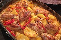 Türkischer Kartoffelauflauf mit Hähnchenflügel