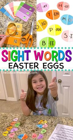 Learning sight words doesn't have to be a chore! With these Easter-themed sight words games from The Soccer Mom Blog, kids will have a blast finding and creating new words! Try making this easy sight word Easter eggs with your kids this Spring! #spring #easter #sightwords #kids #learning #kidsactivities Spelling Activities, Sight Word Activities, Toddler Learning Activities, Easter Activities, Literacy Activities, Educational Activities, Teaching Kids, Learning Phonics, Homeschooling Resources