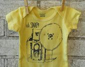 Oh SNAP  Camera Onesie, in yellow or custom colors