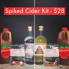 Today and tomorrow we have 24 half-gallons of fresh cider from Musgraves and put together 24 little spice packs to go with them. Choose our whiskey or Honey Vanilla vodka a half gallon of local cider and spice bag for $28. #cider #bloomington #iu #iuhomecoming