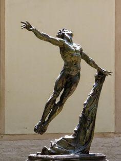 Mikhail Baryshnikov by Greg Wyatt, courtyard of the Schola Cantorum de Paris, rue Saint-Jacques, Paris