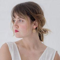 POLLI / Gold Rosa Earrings