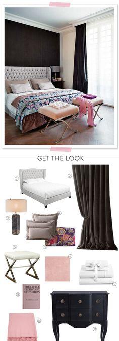 My Favorite Pinterest Bedroom + GET THE LOOK!  Read more - http://www.stylemepretty.com/living/2013/08/13/my-favorite-pinterest-bedroom-get-the-look/