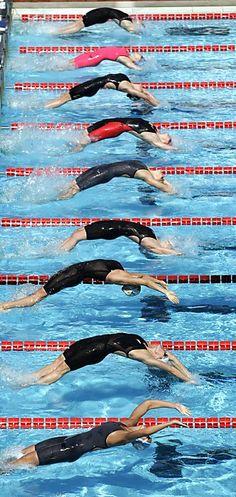 Arched rivals: Swimmers start a women's 100 meter backstr... Alessandra Tarantino / Associated Press