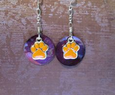 NCAA Team Earrings  Clemson Tigers by joolrylane on Etsy, $28.00