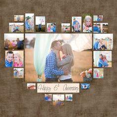 4 diferentes corazón foto Collage plantilla PSD. por DesignBoutiQ