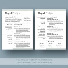 Professional Resume Template the Abigail