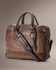 The Frye Company Leather Laptop Bag, Leather Briefcase, Leather Pouch, Leather Men, Laptop Bags, Leather Jackets, Leather Bags, Mens Travel Bag, Travel Bags