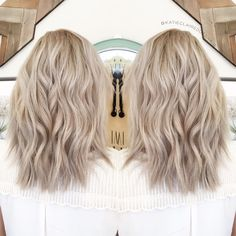 Ashy blonde// olaplex // ash blonde // cool blonde hair в 20 Ashy Hair, Cool Blonde Hair, Ash Blonde Hair, Ombré Hair, Neutral Blonde Hair, Blonde Lob, Fall Blonde, Blonde Hair Care, Platinum Blonde