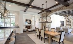 Open concept dining space