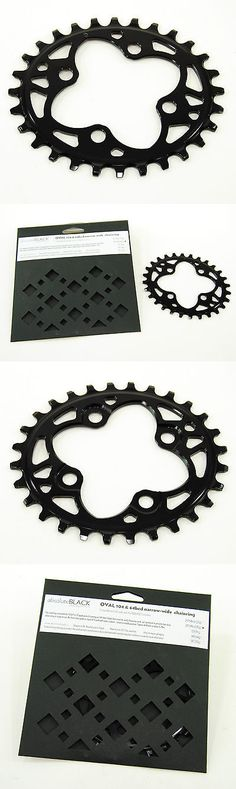 Chainrings and BMX Sprockets 177811: Absolute Black Mountain Bike Chainring Oval 64 Bcd N W 64Mm 4-Bolt 28T 1X10 1X11 -> BUY IT NOW ONLY: $46.86 on eBay!