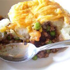 Shepherd's Pie VI Recipe {minus ketchup & use cauliflower instead of potatoes}