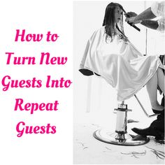 "How to Turn New Guests Into Repeat Guests Do you find that most of your salon or spa clients are regulars or ""one-offs""? How do you convert more of those one-time only clients into regular guests? Get them connected! Not sure how to get connected, here are some ideas! #salonbiz"