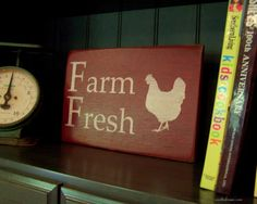 Farm Fresh Wood Sign In Barn Red by southofmain on Etsy, $23.00