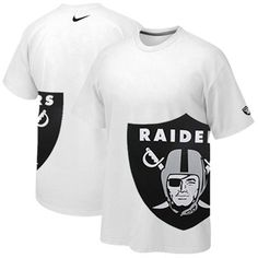Nike Oakland Raiders Logo Stack Premium T-Shirt - White nike Oakland Raiders,nike Oakland Raiders Oakland Raiders T Shirts, Oakland Raiders Football, Football Gear, Football Stuff, Raiders Tattoos, Raiders Helmet, Raiders Stuff, Raiders Baby, Nfl T Shirts