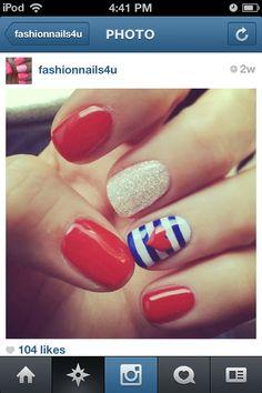 cute nail art love design