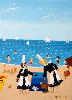 Bretagne - Martine CLOUET - ART NAÏF