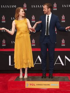 Emma stone ryan gosling at their imprint ceremony