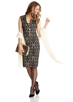 when I do dress up, I like to be a lady! and always in small patterns of black and neutrals or silvers