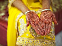 Brides' hand in Pakistan will be fully adorned with henna which is meant to bring good luck to the marriage during the Mehndi ceremony several days before her wedding.