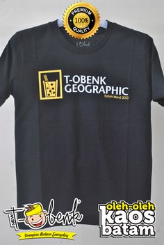 T-Obenk Geographic Landscape Hitam • Premium Quality • IDR 129000 • Official T-Shirt Merchandise from Batam City