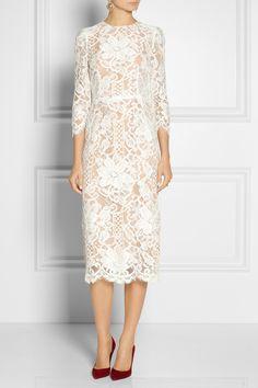 lace and silk organza dress