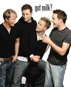 Westlife - my irish boys Got Milk Ads, Kian Egan, Best Of 90s, Mark Feehily, Nicky Byrne, Shane Filan, Irish People, Irish Boys, The Dark Knight Rises