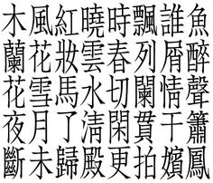 Chinese typographic font design - Chü-Chên Fang Sung 04
