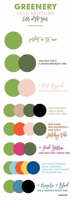 Como combinar o Greenery - Pantone 2017 - com outras cores