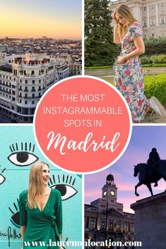 A guide to the top Instagram spots in Madrid. From scenic rooftops and narrow cobblestone streets to vintage cafés and a luscious green park. The most #Instagrammable areas in Madrid. Europe Destinations, Europe Travel Tips, Travel Guides, Travelling Europe, Traveling, Portugal Travel, Spain And Portugal, European Vacation, European Travel