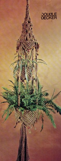 VINtAGE 1970s MaCRAME HaNGING POt PlanT by Crafting4Ever2013