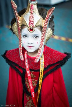 Little Queen Amidala, photo by LJinto at SDCC. I used to love Queen Amidala! This little girl's costume is amazing!