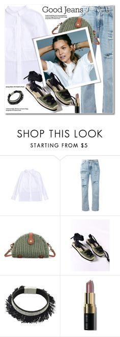 """""""Tear it Up: Distressed Denim"""" by svijetlana ❤ liked on Polyvore featuring Dolce&Gabbana, Joie and Bobbi Brown Cosmetics"""