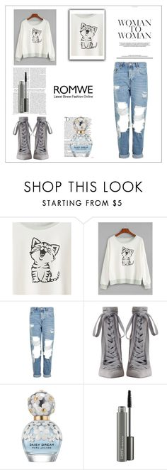 """""""Untitled #760"""" by dina123-1 ❤ liked on Polyvore featuring Topshop, Zimmermann, Balmain, Marc Jacobs and MAC Cosmetics"""