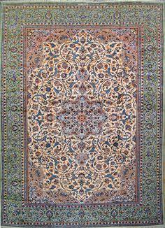 "Buy Esfahan Persian Rug 10' 0"" x 13' 5"", Authentic Esfahan Handmade Rug"
