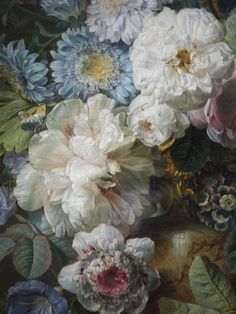 C0ssette stilleven met bloemen in een glazen vaas jan davidsz de heem 1650 1683 detail - Fries behang wall ...