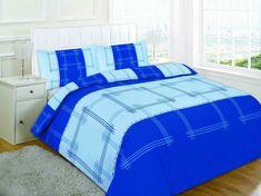Campus Printed Blue Duvet Quilt Cover Set — Linens Range