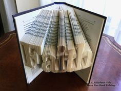 FAITH Book Folding Pattern  228 folds 456 numbered pages