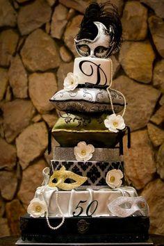 Cushion cake - Cake by GoshCakes Celebration Cakes, Birthday Celebration, Masquerade Cakes, Pillow Cakes, 3d Cakes, Carnival, Cushions, 50th, Creative