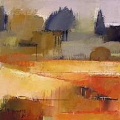 landscape autumn warm colors Bay Farm 8 by Irma Cerese Check out the website for Abstract Landscape Painting, Landscape Drawings, Landscape Art, Landscape Paintings, Abstract Art, Abstract Portrait, Portrait Paintings, Nature Paintings, Art Nature