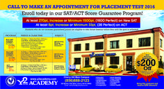 Hurry! Limited time #offer !!! $200 off for Y2Academy's #SAT & ACT #tests prep courses