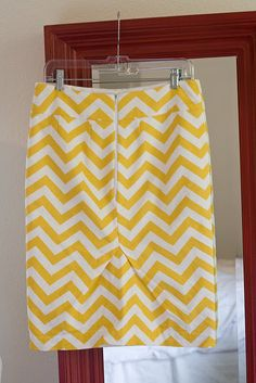 DIY Chevron Pencil Skirt