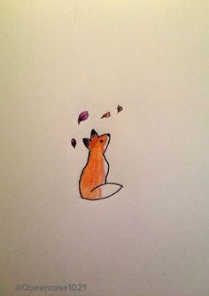 I like to doodle when I'm having a bad day, so here's a fox enjoying the fall weather (please give credit in the description of you repin)--by rose Winchester