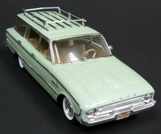 61 Ford Falcon Wagon -- Plastic Japanese Toy,
