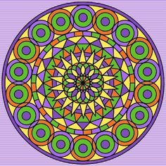 "Mandala 005 There is a blank coloring page of this on my other board ""Mandala Coloring Pages."""