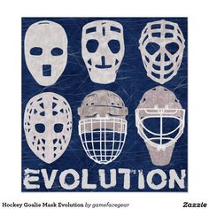 Hockey Goalie Mask Evolution Poster http://www.zazzle.com/hockey_goalie_mask_evolution_poster-228084150784218331?rf=238588924226571373