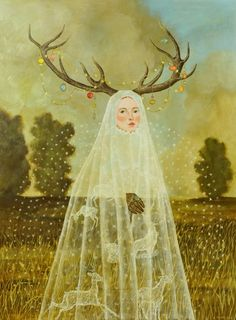 Anne Siems, 'Antler Girl', 2012.