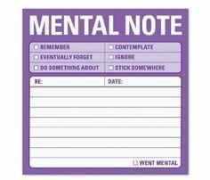 Knock Knock Sticky Mental Notes (Sticky Note): Knock Knock: 9781601063465: Amazon.com: Books